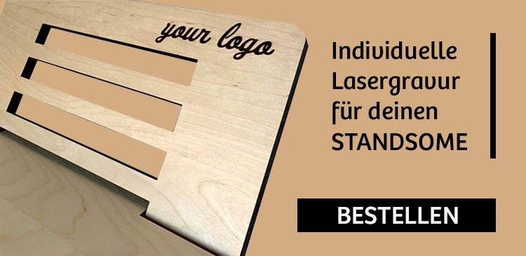 Individuelle Lasergravur für deinen Standsome